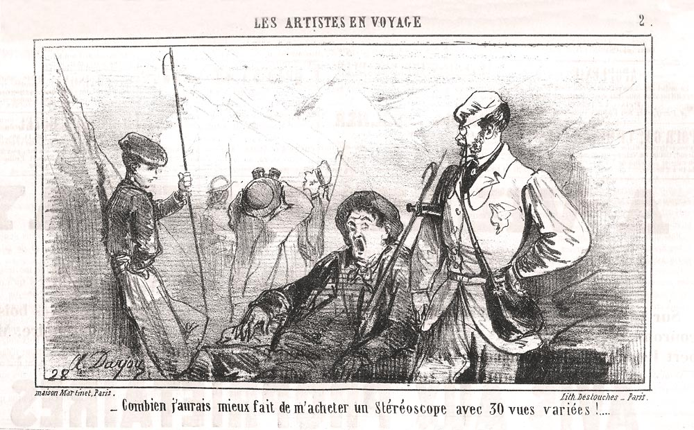 Newspaper illustration of man who wants a stereoscope