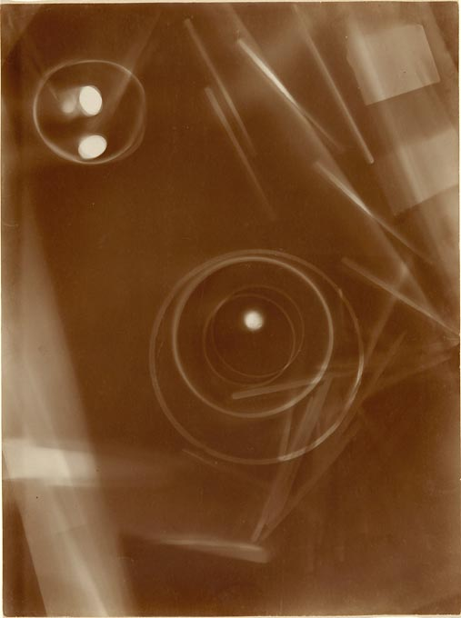 Photogram of circular and linear shapes