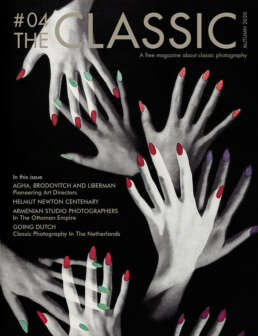 Cover of The Classic photo magazine, image : Alexey Brodovitch. Photography by Herbert Matter, Tips on your fingers.